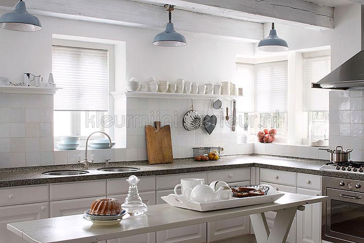 Raamdecoratie Keuken : Dupligordijnen binnenzonwering kleurmijninterieur.nl