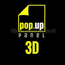 Pop up panel 3D