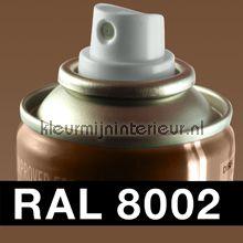 Spuitbus RAL 8002 Signaal Bruin