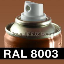 Spuitbus RAL 8003 Leem Bruin