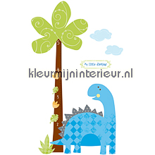 Babysaurus Growth Chart sticker interieurstickers York Wallcoverings Baby Peuter