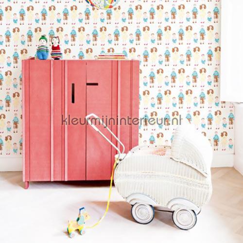 Dollhouse family behang 47921  behang Studio Ditte van Studio Ditte ...