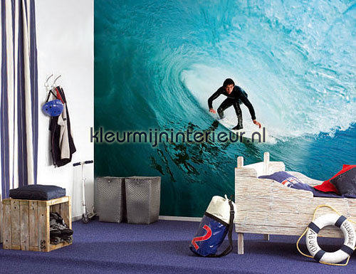 Behang Kinderkamer Strand : Big wave surfer 301647 fotobehang ...