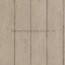 Hout in neutraal bruine kleur papel de parede Rasch madeira