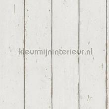 Hout in neutraal wit papel de parede Rasch madeira