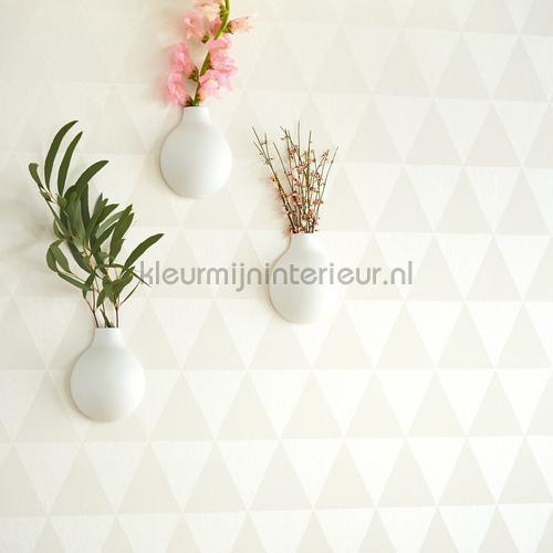 Driehoekjes behang licht 356010 behang black and light van eijffinger - Grafisch behang ...