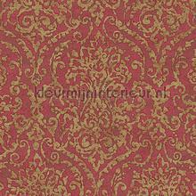 Burlesque Baroc rood goud papel pintado AS Creation barroco