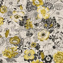 Bloemen vintage okergeel