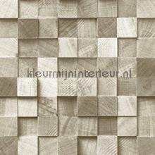 Kops houten balkjes beige papel de parede Esta home madeira