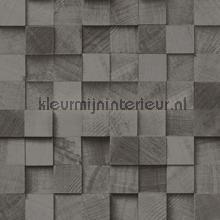 Kops houten balkjes antraciet papel de parede Esta home madeira