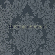 Textiele damask grijsblauw papel pintado Rasch barroco