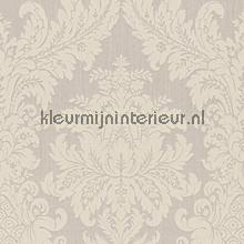 Textiele damask licht grijsbeige papel pintado Rasch barroco