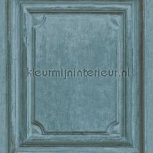 Oude houten panelen oud blauw papel de parede Rasch madeira