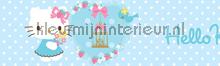 Hello Kitty pastel rand papel de parede Kleurmijninterieur Beb�s Crian�as