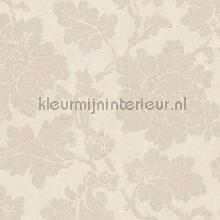 Grote bloem beige papel pintado AS Creation barroco