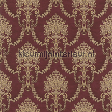 Floral bouquet damask red papel pintado Rasch barroco