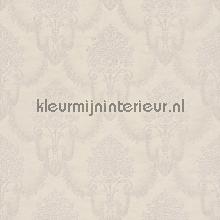 Floral bouquet damask pink-beige papel pintado Rasch barroco