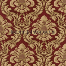 Traditional damask red papel pintado Rasch barroco