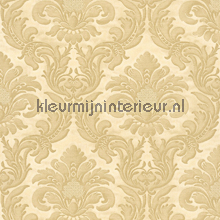 Traditional damask creme papel pintado Rasch barroco