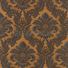 Traditional damask copper papel pintado Rasch barroco