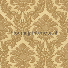 Traditional damask gold papel pintado Rasch barroco