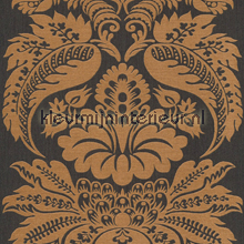 Large damask copper papel pintado Rasch barroco