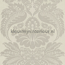 Large damask light grey papel pintado Rasch barroco