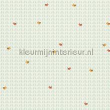 Vogels op abstracte achtergrond papel de parede AS Creation Beb�s Crian�as