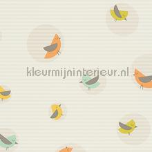 Vogels in cirkels met gelineerde achterg