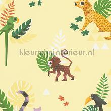 Esprit jungle dieren origami geel