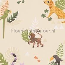 Esprit jungle dieren origami creme papel de parede AS Creation Beb�s Crian�as