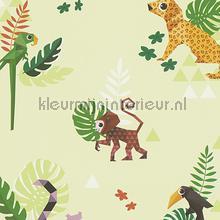 Esprit jungle dieren origami groen