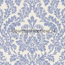 Ornament blauw papel pintado Rasch barroco