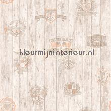 Beige zeil emblemen papel de parede Hookedonwalls madeira
