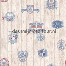 Blauwe zeil emblemen papel de parede Hookedonwalls madeira