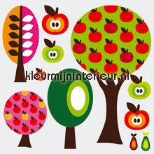 Fruitbomen stickerset interieurstickers Kleurmijninterieur meisjes