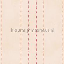 Stippelstreepjes pastelbruin rood