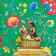 PiP Floral Fantasy Groen Behang fotobehang Eijffinger romantisch modern