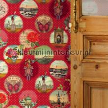 PIP remember Brighton Rood Behang fotobehang Eijffinger PiP studio wallpaper
