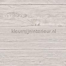 Warm grey wooden planks papel de parede Dutch Wallcoverings madeira