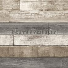 Horizontal wood greyish brown papel de parede Dutch Wallcoverings madeira
