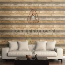 Horizontal wood brown papel de parede Dutch Wallcoverings madeira