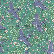 Zwaluw patroon groen blauw