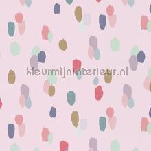 Gekleurde tips op licht roze