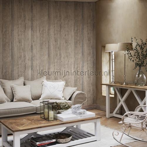 Driftwood beige bruin 18293 : behang Riviera Maison van BN ...