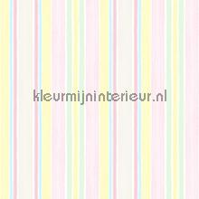 Pastelstrepen roze geel paars
