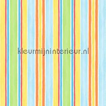 Strepen blauw geel groen oranje