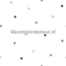 Overal grijze en beige puntjes