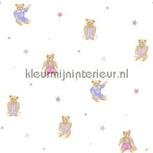 Knuffelberen en sterren roze paars