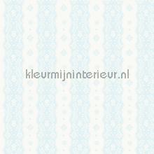 Dentelle stripe pale blue papel de parede Room Seven Beb�s Crian�as